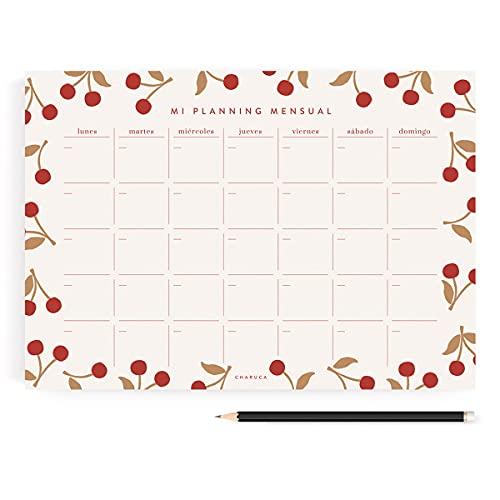 CHARUCA Planificador cerezas, Mensual