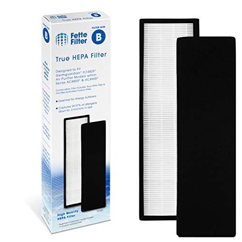 Fette Filter True HEPA Filter Compatible GermGuardian FLT4825 Models AC4300/AC4800/4900 Series Air Purifiers (Filter B)