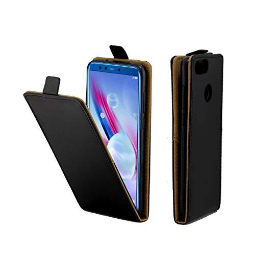 MDYHMC YXCY Funda de Cuero con Flip TPU de Estilo Comercial AYCD para Huawei Honor 9 Lite, con Ranura para Tarjeta (Negro) (Color : Black)