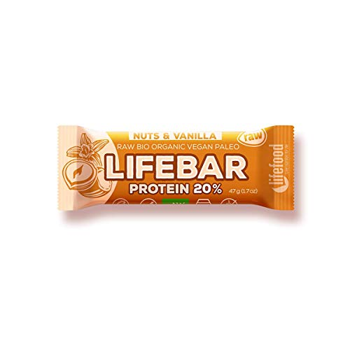 Life Food Organic Raw Lifebar Protein Nuts & Vanilla, 47g