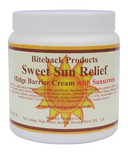 """Biteback Products \""""Sweet Sun Relief\"""" Mückenbarriere und Sonnenschutzcreme 250g"""