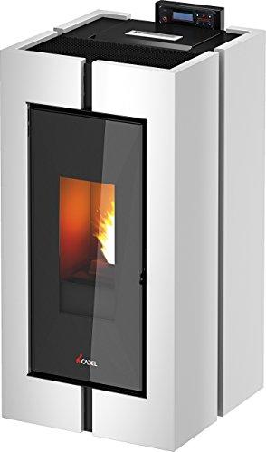 Pelletofen Cadel Tecna weiß aus Stahl mit Fernbedienung Heizung Haus Büro Geschäft Zimmer Qualität 100 Italien