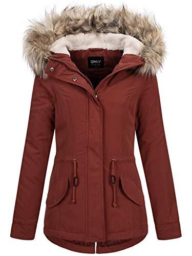 ONLY ONLNEWLUCCA Parka Jacket OTW, Fired Brick, XS Femme