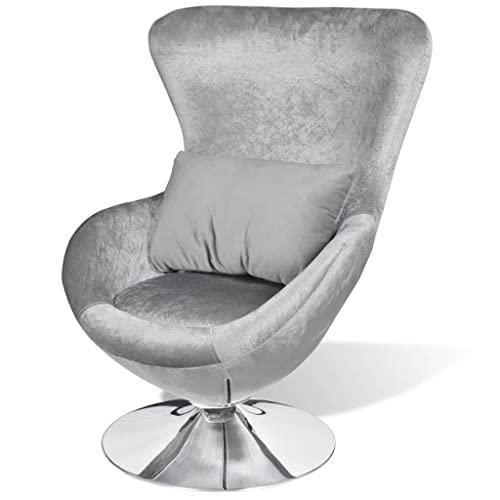 vidaXL Ei-Form Silbern Bild