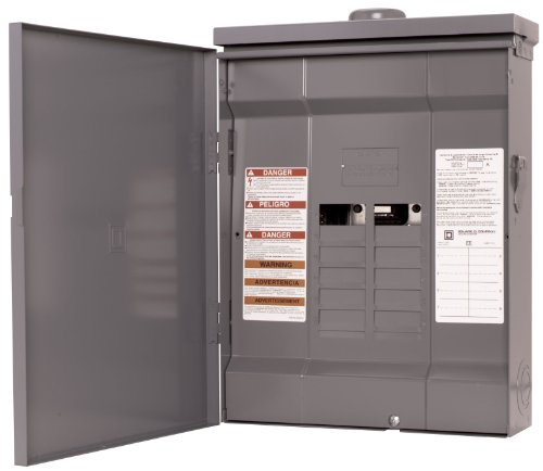 Square D by Schneider Electric HOM816L125RB Homeline 125-Amp 8-Space 16-Circuit Outdoor Main Lugs Load Center