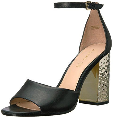 ALDO Damen Sandalen, schwarzes Leder, 36.5 EU