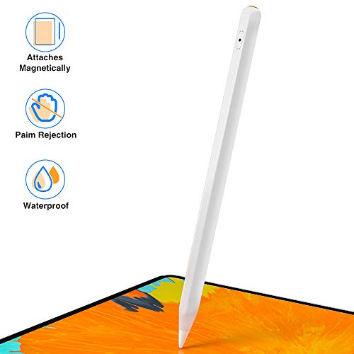 Stylus Pen for Apple iPad with Palm Rejection,Attaches Magnetically,Pixel-Perfect Precision,Compatible with iPad (7th)/iPad Air (3rd)/iPad mini (5th)/iPad Pro 11(1st / 2nd)/iPad Pro 12.9(3rd and 4th)