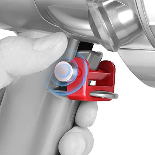 AIEVE Handgriffhalterung Schalter Halterung Startknopf Fixierung Zubehör kompatibel mit Dyson V15 V11 V10 V8 V7 V6 Staubsauger, nicht für V11 Outsize (fixieren Sie den Knopf beim Saugen)