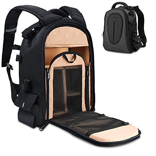 DSLR Camera Bag, Waterproof Backpack with 12' Laptop Compartment Camera Case Travel...
