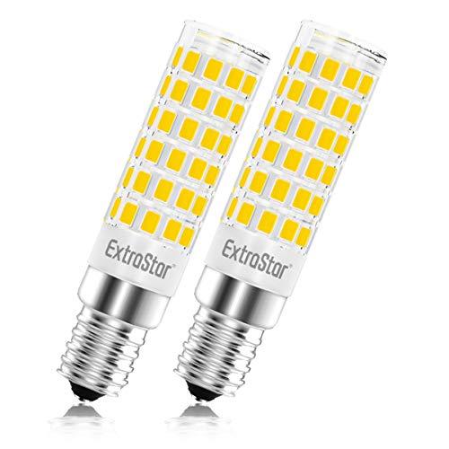 Lampadina LED E14, 5W (equivalenti a 40 W),3000K,luce bianca calda,base in ceramica, piccola vite non dimmerabile per cappa da cucina,Pacco da 2