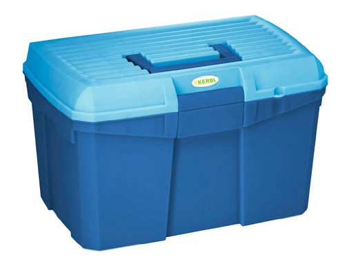 Caja de limpieza Siena azul marino/azul claro con inserto ex