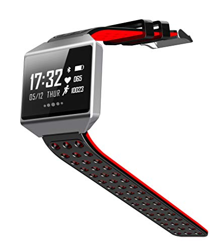 Six Star Commerce Waterproof Sports Watch for Swimming, Running and Biking with Health, Sleep, Steps, Distance and Calorie Monitoring. (Red)
