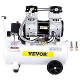 VEVOR Compressori d'Aria da 2HP / 1500W, Compressore Motore Senza Olio con Serbatoio 18L, Velocità di Rotazione 1440 RPM Compressore Silenzioso per il Gonfiaggio dei Pneumatici, la Pulizia dei Veicoli