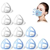 [10PCS] 3D Bracket for Comfortable Mask Wearing | Silicone Mask Inner Support Frame | Keep Fabric off Mouth to Create More Breathing Space | Reusable Washable Translucent