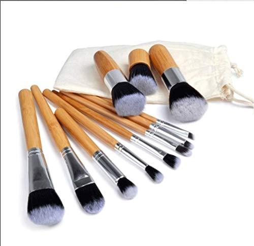 Pinceaux Maquillage 11pcs brosse bambou poignée de maquillage de l'environnement