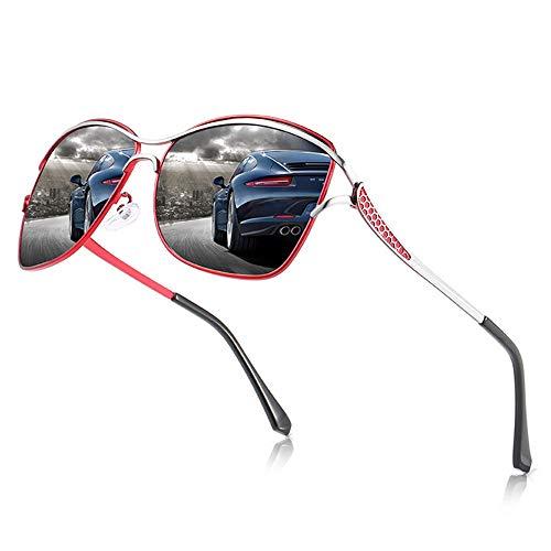 DKEE Gafas de Sol Gafas De Sol Polarizadas UV400 for Hombres/Mujeres Gafas De Sol for Conducir Deportes Al Aire Libre Conducción Espejos De Playa Marcos De Metal Resistente A Los Rayos UV Unisex