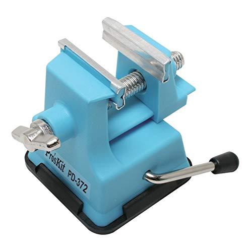 Mini-Schraubstock – Ideal für den (kleinen) Modellbau – Leicht, sicher, fest auf jedem flachen Untergrund – Für Öffnungen bis 25 mm – C344115
