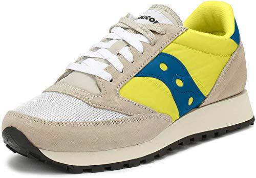 Saucony Herren Jazz O Vintage Cross-Trainer, weiß (White/Neon Yellow 18), 45 EU