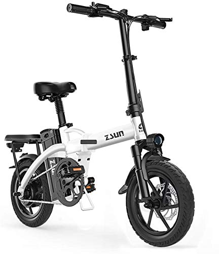 Electric Bikes, Fast Electric Bikes for Adults Electric Bike for Adults 48V Urban Commuter Folding E-bike Folding Electric Bicycle Max Speed 25 Km/h Load Capacity 150 Kg ,E-Bike ( Color : White )