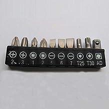 KANJJ-YU 1/4 Head Pole 6.35 Mini Quick Ratchet Wrench Torque Wrench Screwdriver Bits Socket Tools (Color : A Bits)
