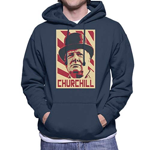 Cloud City 7 Winston Churchill Retro Propaganda heren hooded sweatshirt
