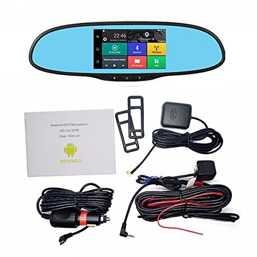 Komko Espejo retrovisor 5.0' IPS Pantalla táctil 3G Android retrovisor Espejo Grabador de Video Coche DVR Dash Camera Aparcamiento Coche DVRS Dual CÁMARA GPS con 1 6GB TF Tarjeta - -