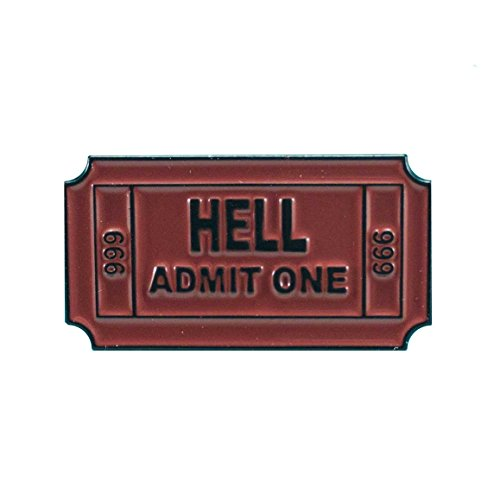Bent Wookie Ticket to Hell Pin - 1 Inch Wide Ceramic Enamel Pin