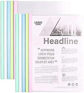 10 Pcs Clear Covers Report avec U-Type Sliding Bar, fournitures scolaires de bureau Transparent Resume Presentation File D...