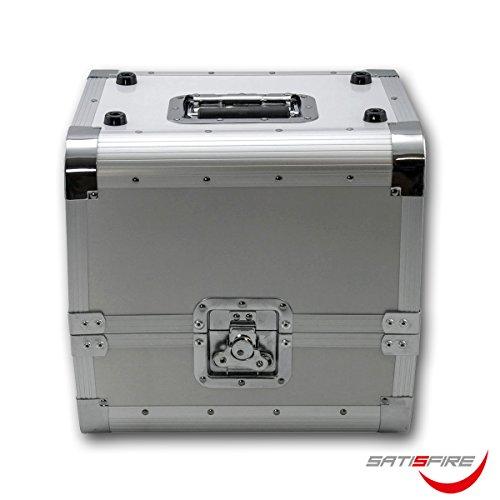 SATISFIRE® Plattenkoffer LP80 • Aluminium-Koffer • Vinyl-Case • Schallplattenkoffer • für 80 LP 50:50 Teilung
