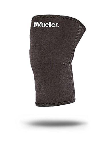 Mueller Neopren Kniebandage, Geschlossene Kniescheibe, Schwarz, Gr. M