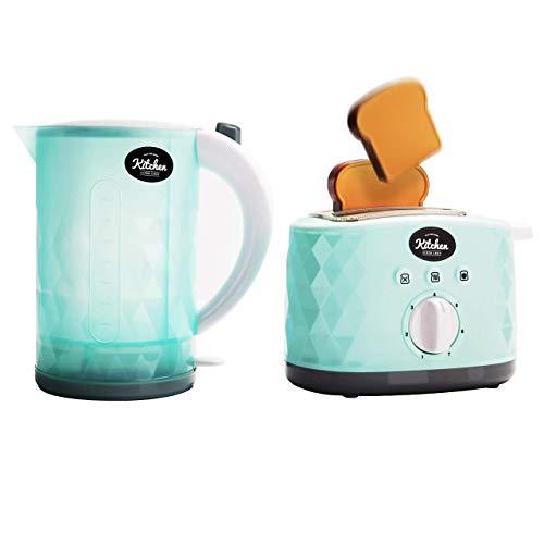 infunbebe Kinder Spielzeug Küche Super Chef Mein Erstes Wasserkocher & Toaster Mit Licht & Geräusche