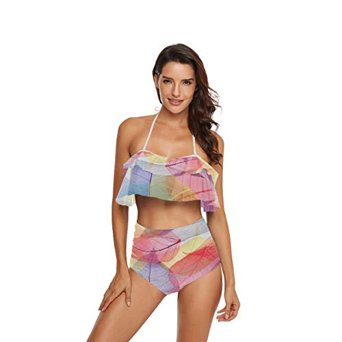 CaTaKu Chic Skelett-Bikini-Set, Sommer, Bademode, Badeanzug, Ozean, Strand, Badeanzug für Teenager, Mädchen, Frauen - mehrfarbig - Large