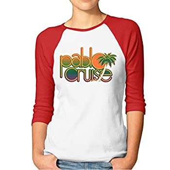 KennethDubreuil Pablo Cruise Funny Crew Neck 3/4 Raglan T-Shirts M Red