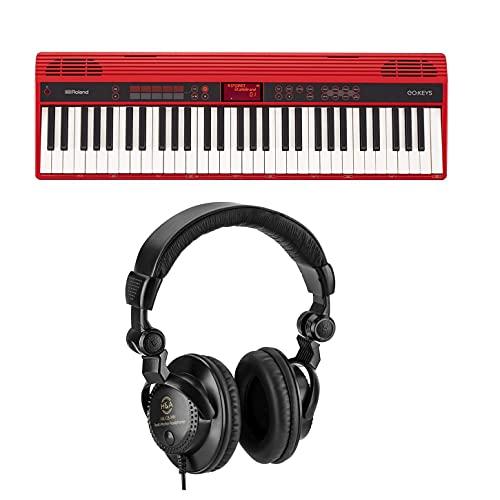 Roland GO:KEYS GO-61K 61-Key Music Creation Keyboard - with H&A Closed-Back Studio...