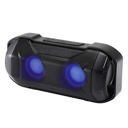 HIOD Bluetooth Altavoz Inalámbrico Mini Al Aire Libre Impermeable Ligero Portátil Súper bajo Altavoz Bluetooth con Efectos de luz Alcance Bluetooth 33 pies para Familia Viajar