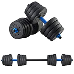 【SUITABLE FOR NOVICES】 Special embossing prevents dumbbells from rolling, easy to capture high temperature resistance, not easy to aging, anti-rolling design, more intimate. 【MULTI-FUNCTIONAL DESIGN】the dumbbell bar is connected by a connector to for...