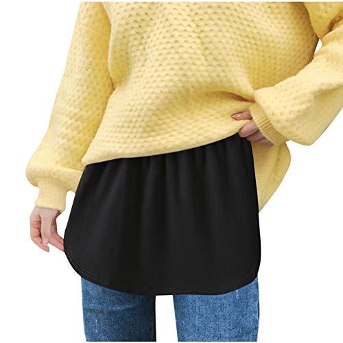 SUccess 1/3 Stück Verstellbare Schicht Fake Top Lower Sweep Set, Adjustable Layering Shirt Extender Minirock, Fake Hem Rock für Jacke Mantel Pullover Sweatshirt