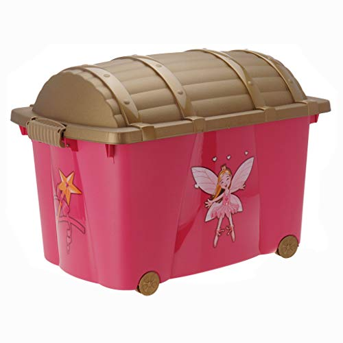Guaranteed4Less Princess Toys Box Storage Kids Girls Chest Bedroom Clothes Playroom Childrens