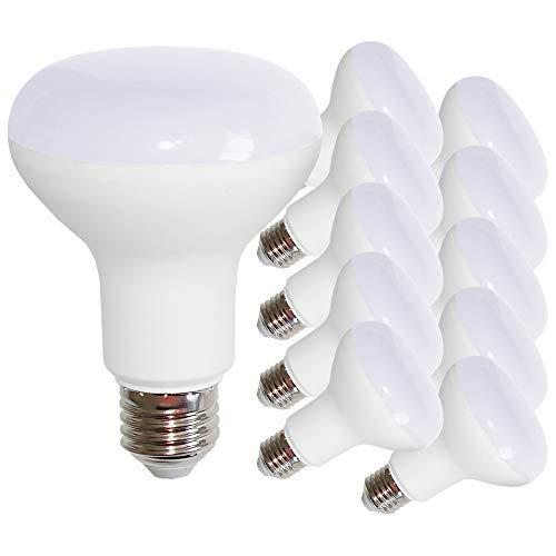 10 x LED Leuchtmittel Reflektor R80 12 Watt = 75 Watt E27 matt warmweiß 2700K flood 120° (R80 12W = 75W, 10 Stück)