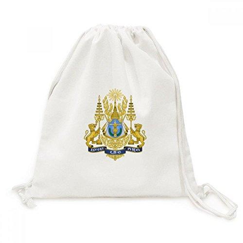 DIYthinker Phnom Penh Kambodscha National Emblem Canvas-Rucksack-Reisen Shopping Bags