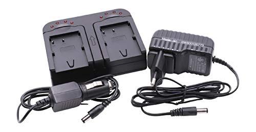 vhbw Cargador Dual Compatible con Canon MV410, MV430i, MV450i, MV500, MV500i, MV530i, MV550i, MV600i batería de cámara - Soporte