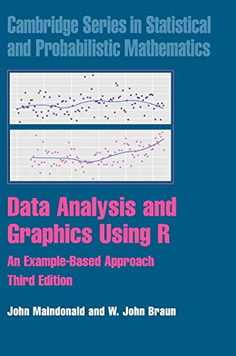 Data Analysis and Graphics Using R: An Example-Based Approach (Cambridge Series in Statistical and Probabilistic Mathema