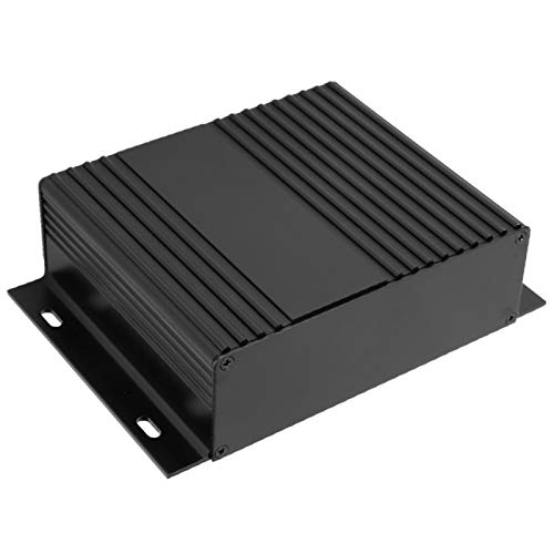 Caja de enfriamiento de aluminio, tratamiento cepillado 41X147X100Mm Tipo dividido Caja protectora resistente al desgaste, para productos electrónicos Controladores a bordo