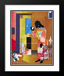 Romare Bearden Framed and Double Matted Art Print 29x35