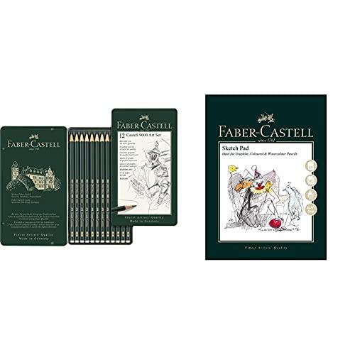 Faber-Castell 119065 Matita & Blocco Da Disegno A&G A4, Bianco
