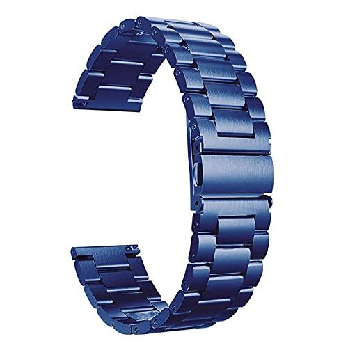 KHLKHBK Banda de Reloj clásica de Acero Inoxidable Banda de Reloj Tradicional e Inteligente 20 mm 22 mm Pulsera Pulsera de Metal Pulsera (Color de Banda: Oro Negro, Ancho de Banda: 22 mm) Nice Gift