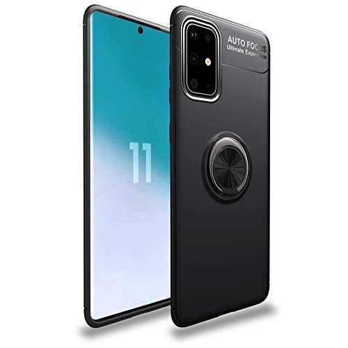 Happy-L Caso Samsung Galaxy S20 Plus, Estuche Super Slim Soft TPU, Funda a Prueba de choques de 4 órdenes WTIH Color Metal Titter Patterstand/Bulit-in Bulit-in Placa de Hierro [Trabajo con el t