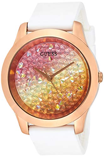 GUESS Reloj Analógico para Mujer de Cuarzo con Correa en Silicona W1223L3