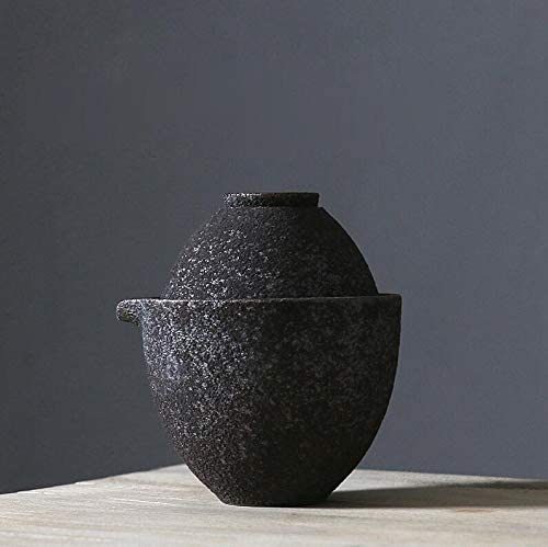 Large discharge sale Rust-glazed Detroit Mall Ceramic Teapot Kettle Teacup Tea Japanese Set Drinkw