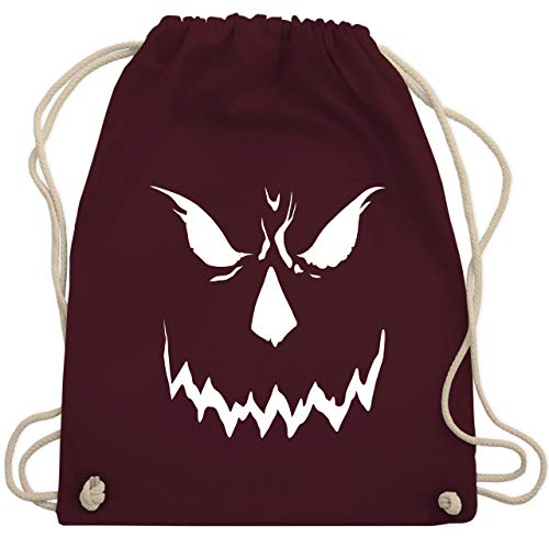 Shirtracer Halloween - Scary Smile Halloween Kostüm - Unisize - Bordeauxrot - Gesicht - WM110 - Turnbeutel und Stoffbeutel aus Baumwolle
